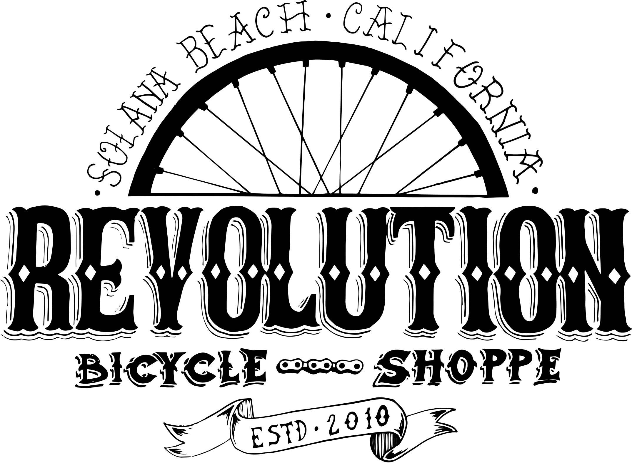 Bicycle Shop Logo New Revolution Bike Shop Logo