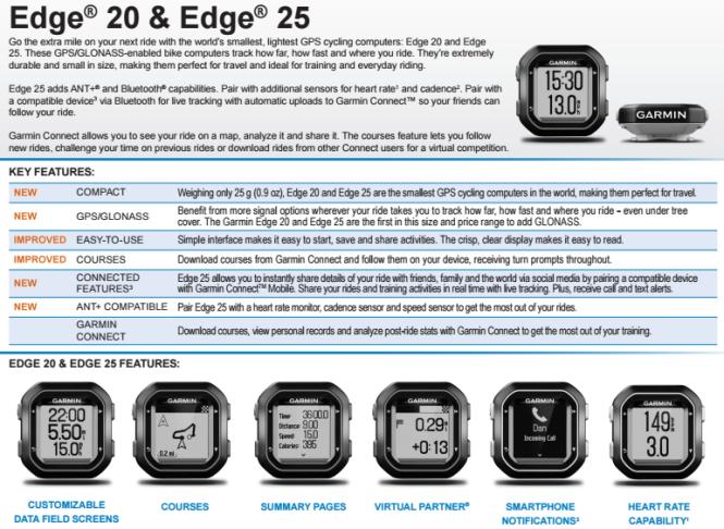 Garmind edge 20